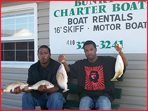 Croakers caught from a rental boat!
